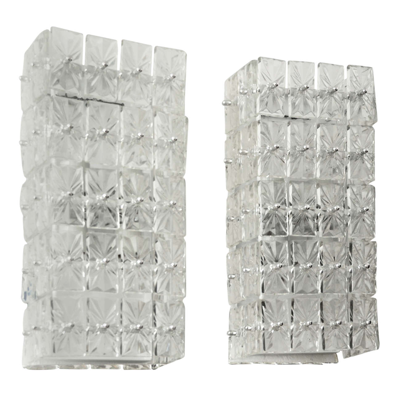 Pair of Decorative Glass Tile Sconces at 1stdibs
