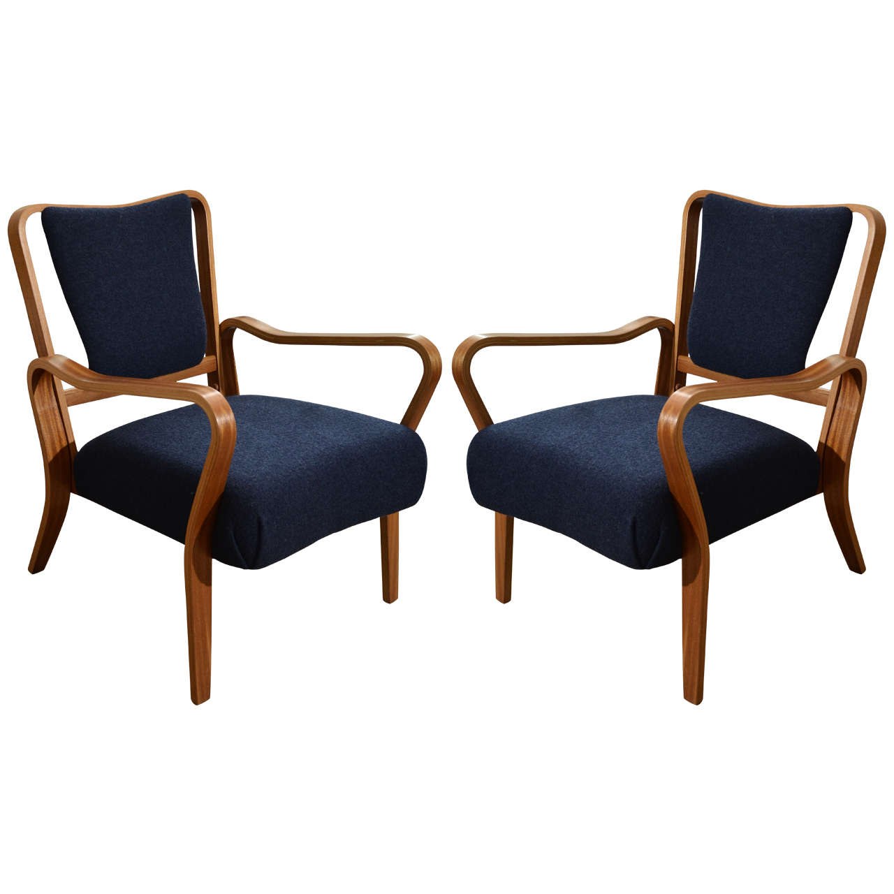 """Pair of 1948 """"Linden"""" Beech Armchairs by G.A. Jenkins for Tecta"""