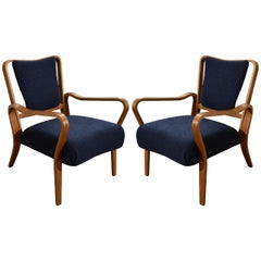 "Pair of 1948 ""Linden"" Beech Armchairs by G.A. Jenkins for Tecta"