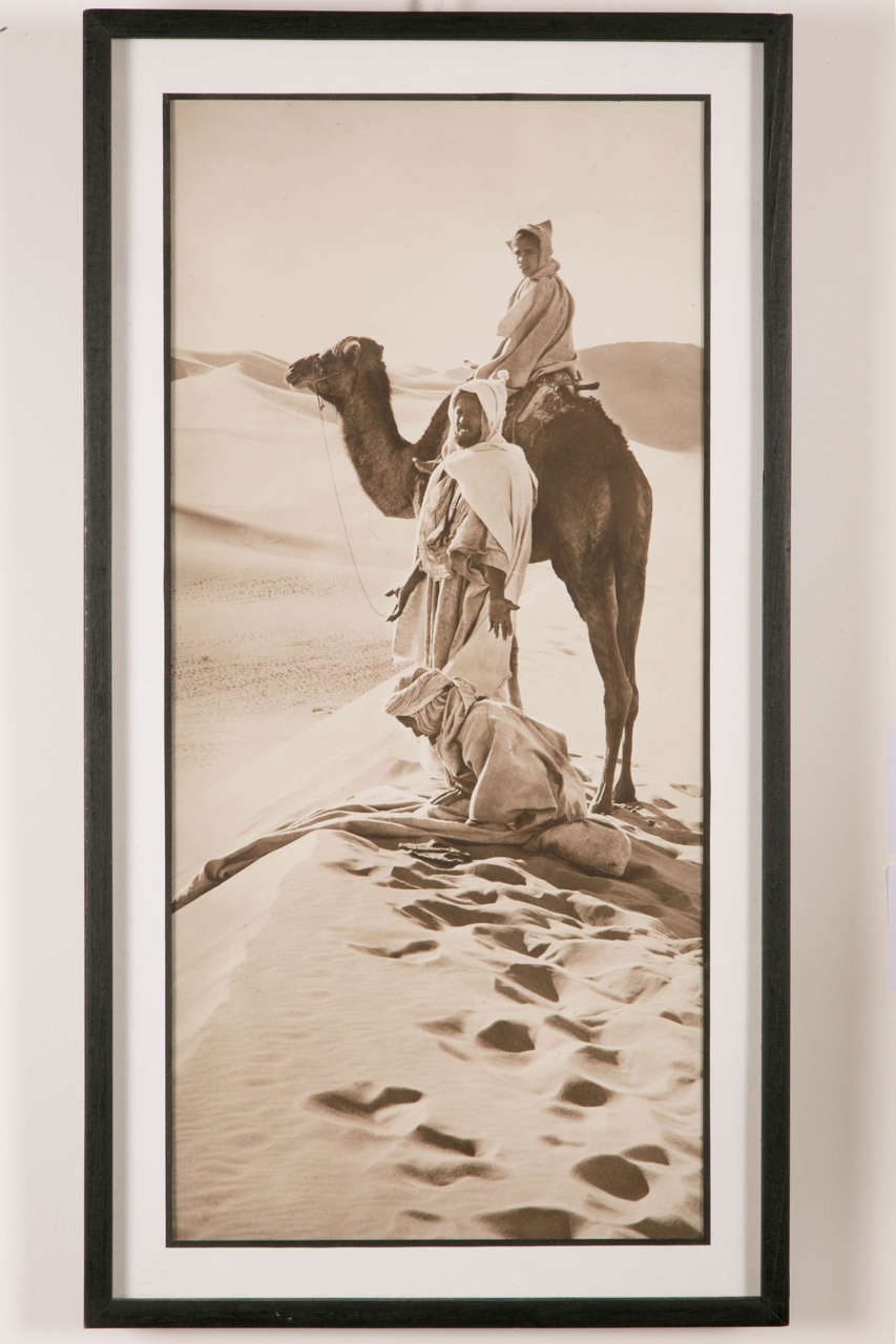 Photography by Rudolf Lehnert entitled 'The Hour of Prayer'. Silver vintage print (circa 1910). With its framing, its dimensions (28x58cm) and its format this photo has an amazing modernity. Typical work of the great and famous photographers Lehnert