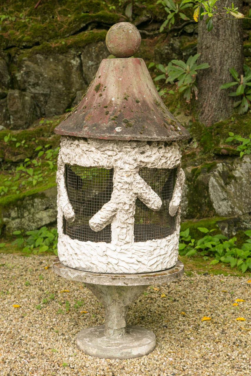 Faux Bois Cement : Faux bois style cement birdcage for sale at stdibs