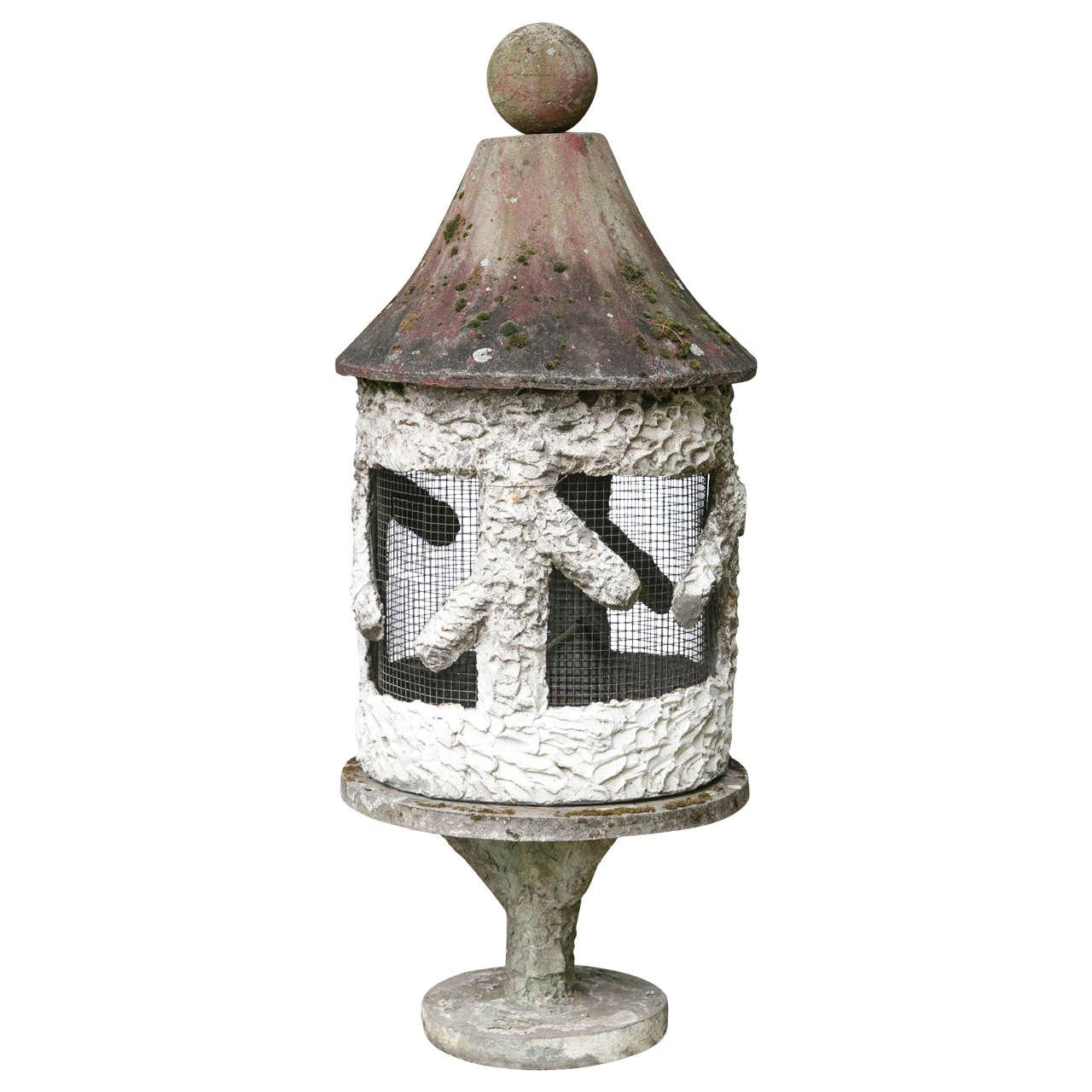 Faux Bois Style Cement Birdcage
