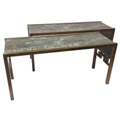 Philip and Kelvin Laverne Festival Console Tables
