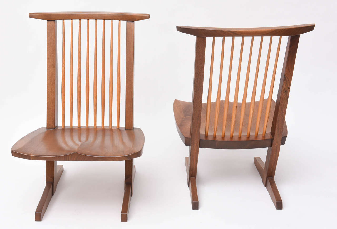 American George Nakashima Conoid Low Chairs For Sale