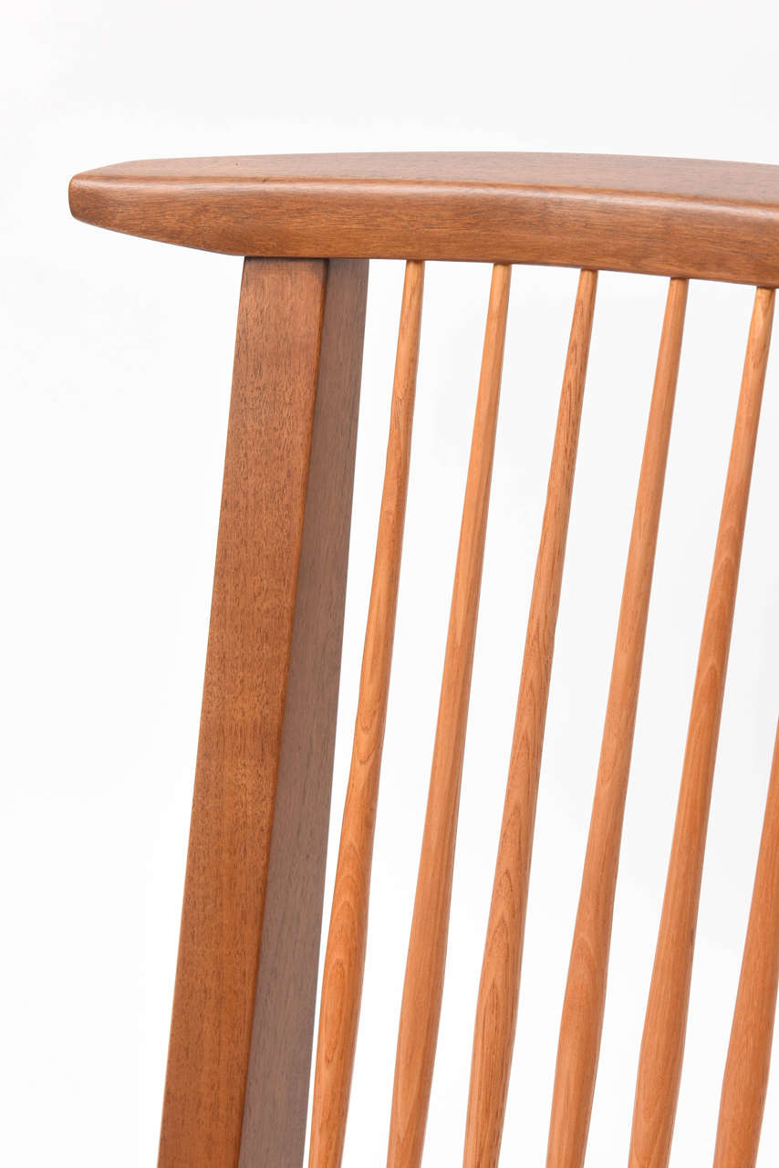 George Nakashima Conoid Low Chairs In Good Condition For Sale In West Palm Beach, FL