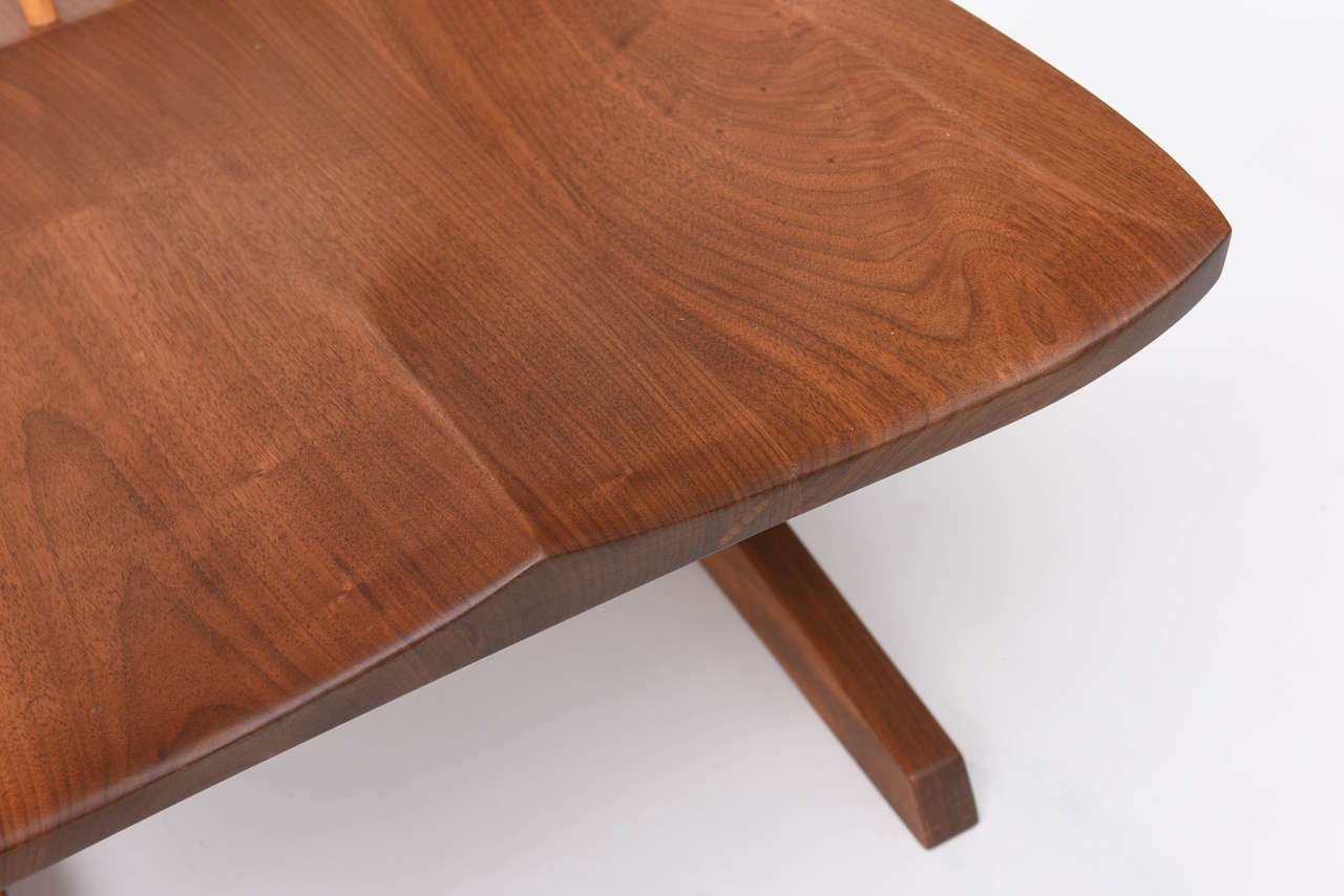 Late 20th Century George Nakashima Conoid Low Chairs For Sale