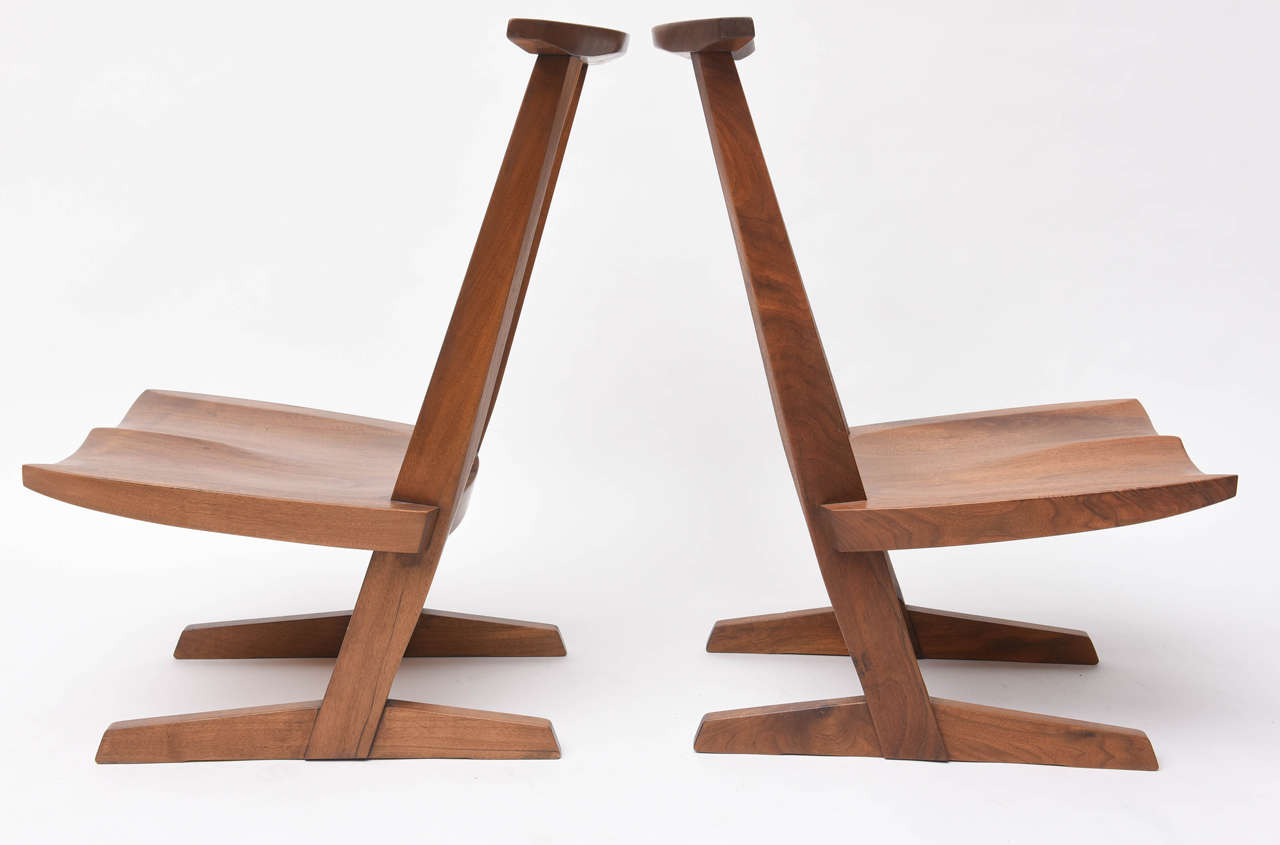 George Nakashima Conoid Low Chairs For Sale 1