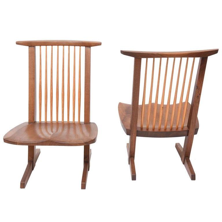 George Nakashima Conoid Low Chairs For Sale