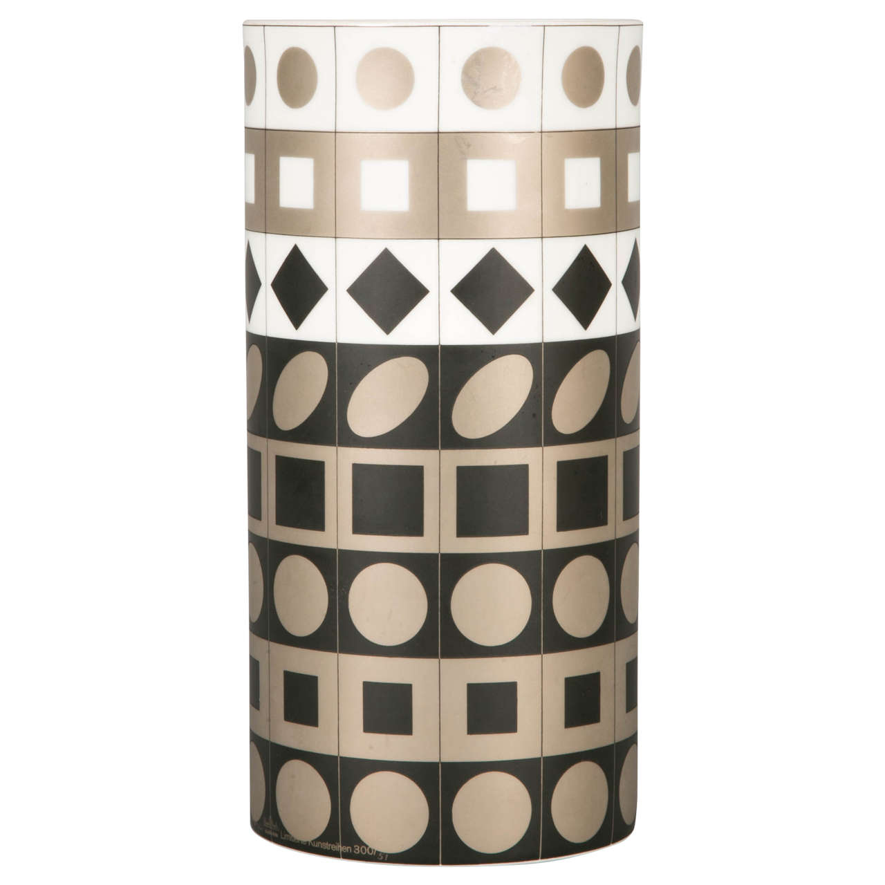 Porcelain Vase by Vasarely for Rosenthal, 1970 For Sale