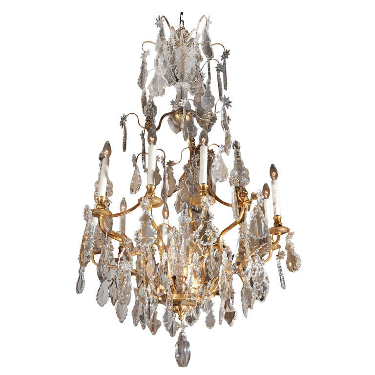 Gilded Bronze Four Tier Chandelier For Sale At 1stdibs