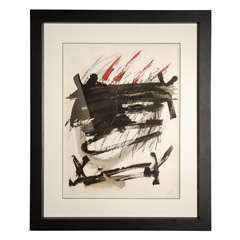 Lithograph by Antoni Tapies