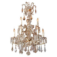 18th Century Gilt Bronze Italian Chandelier