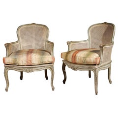 Pair of Caned French Armchairs