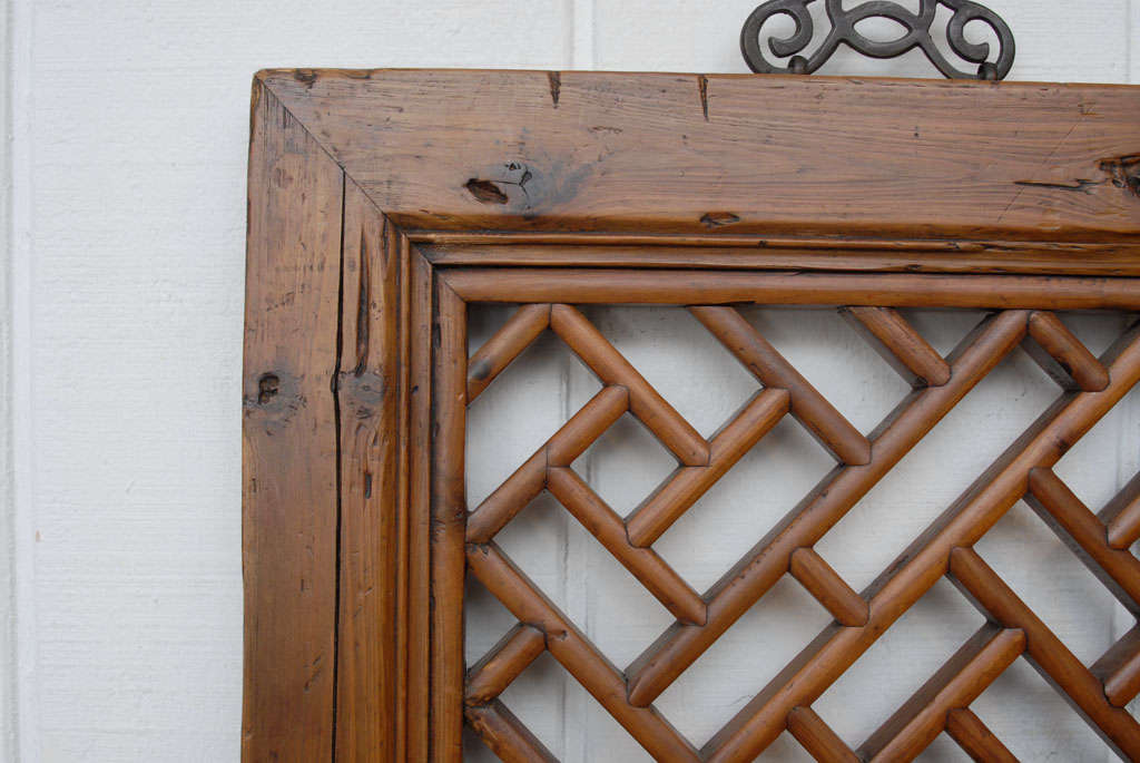 Chinese Lattice Panel In Excellent Condition In Washington, DC