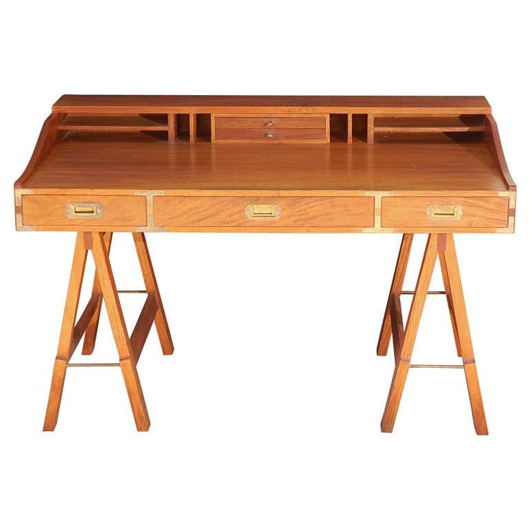 1960s campaign sawhorse desk at 1stdibs Sawhorse desk legs