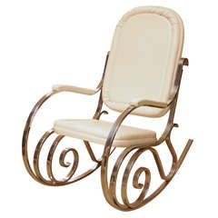 Maison Jansen Chrome Rocking Chair