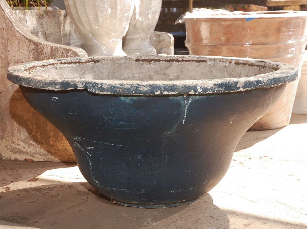French round cast concrete planter for sale at 1stdibs - Casting concrete planters ...