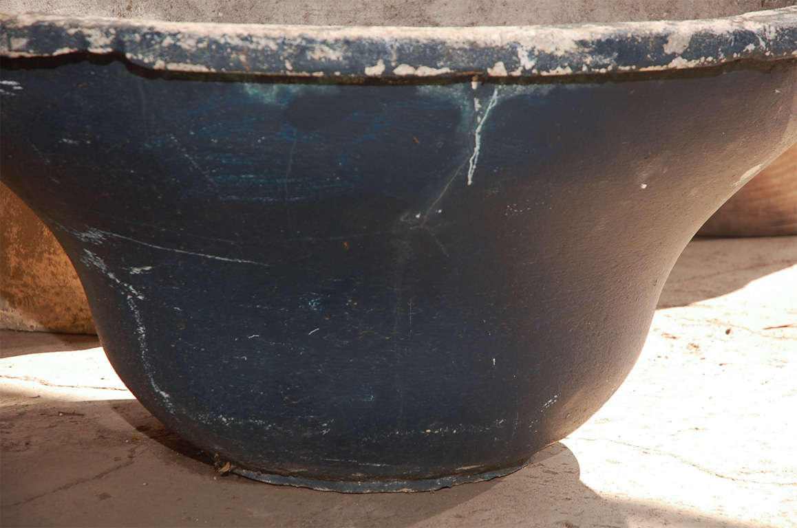 French round cast concrete planter at 1stdibs - Casting concrete planters ...