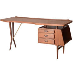 Mid Century Dutch Teak Desk