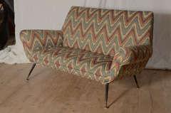 Italian Zig Zag Sofa image 2