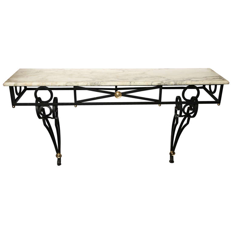 1940s French Art Moderne Console