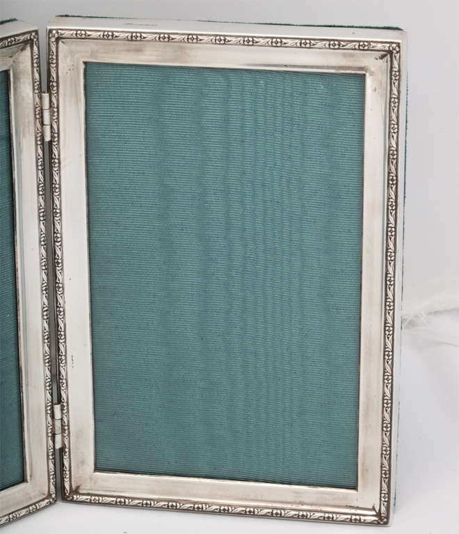Sterling Silver HInged Double Picture Frame at 1stdibs