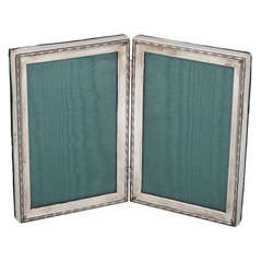 Sterling Silver HInged Double Picture Frame
