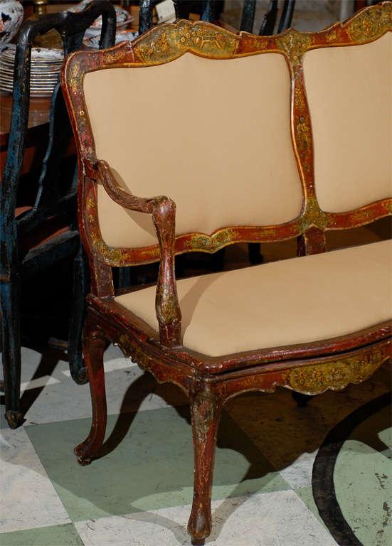 18th century italian rococo canape with chinoiserie design for Canape william ii