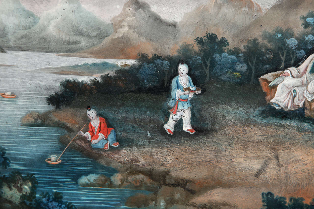 Chinese Export Reverse Glass Painting 5