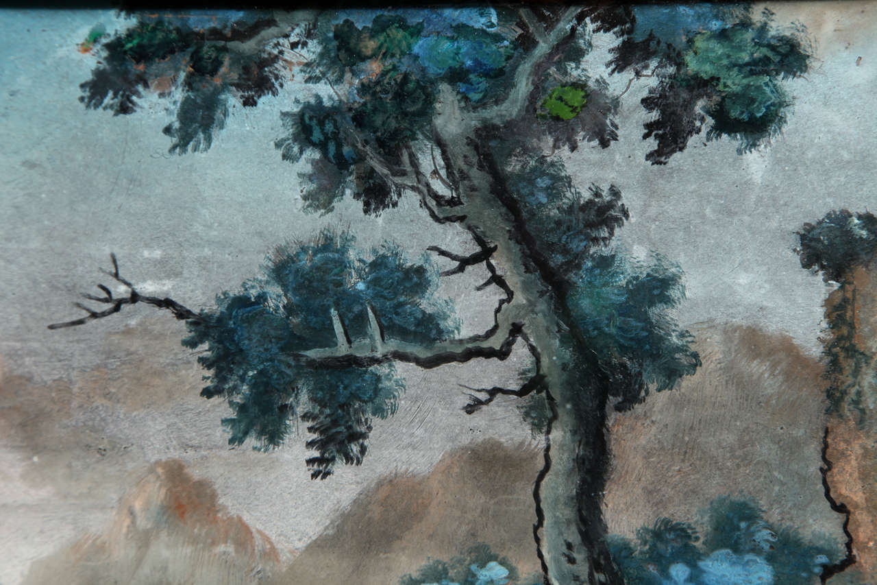 Chinese Export Reverse Glass Painting 7