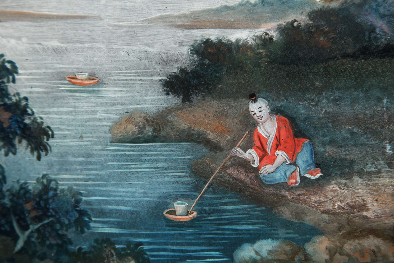 Chinese Export Reverse Glass Painting 8