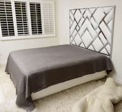 King Size D.I.A Headboard in Chrome and Faux Leather image 2