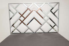 King Size D.I.A Headboard in Chrome and Faux Leather image 4