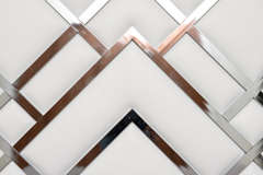 King Size D.I.A Headboard in Chrome and Faux Leather image 7