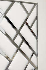 King Size D.I.A Headboard in Chrome and Faux Leather image 8