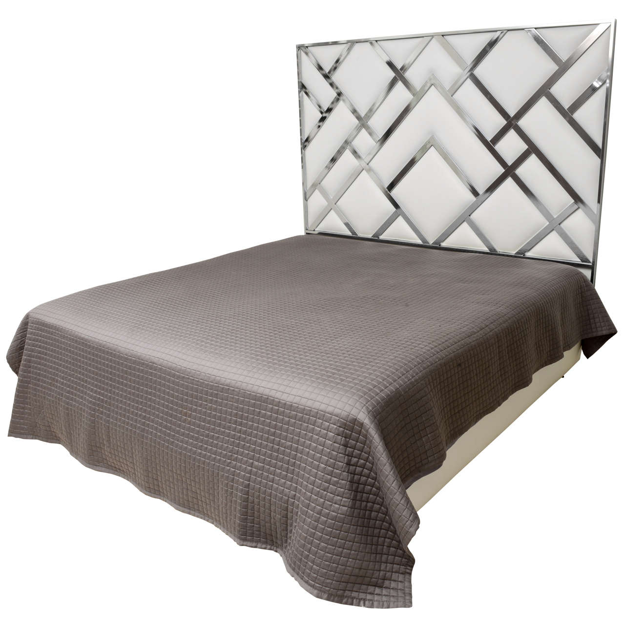 King Size D.I.A Headboard in Chrome and Faux Leather 1