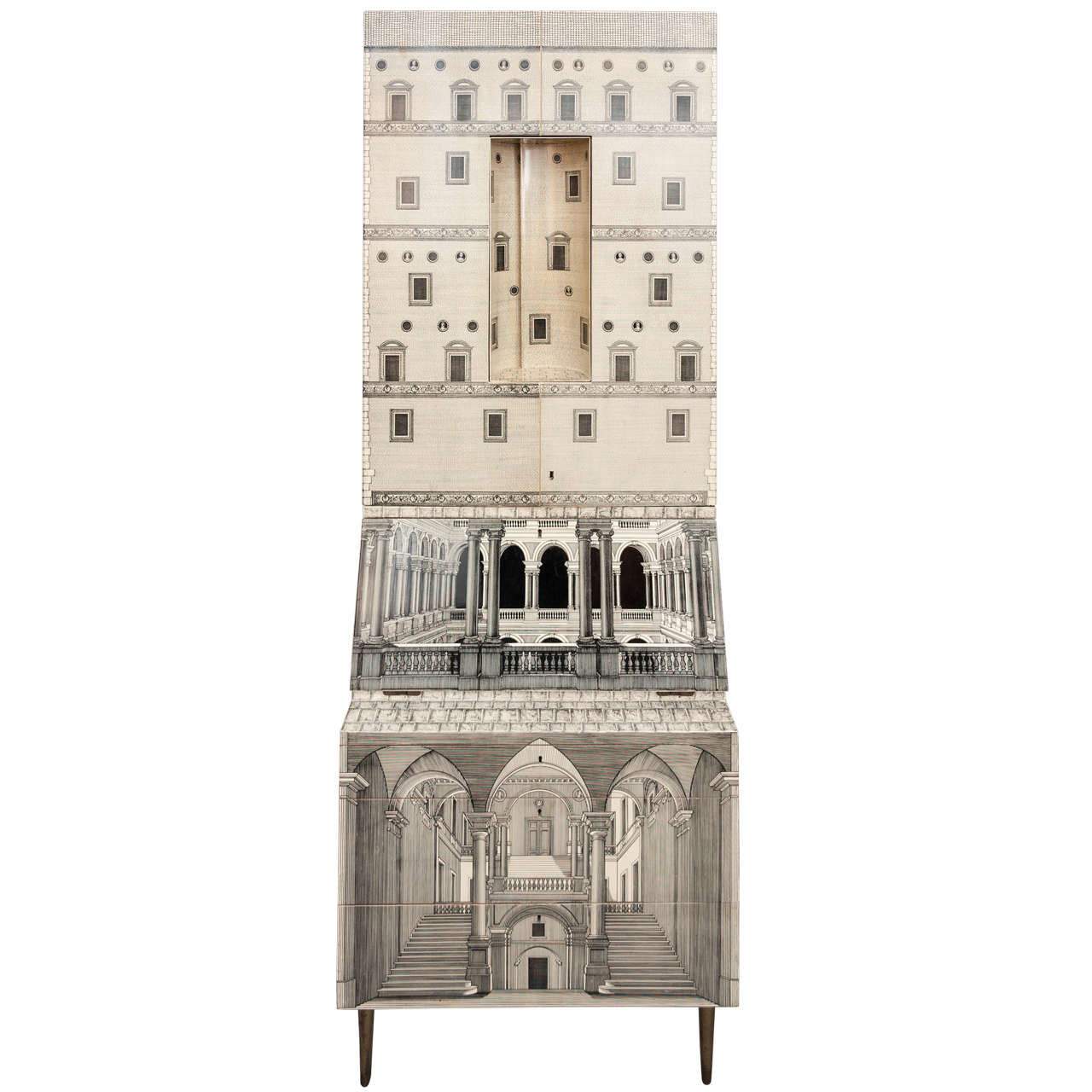 Piero Fornasetti trumeau architettura, Italy circa 1959, Holly Johnson Antiques & Interior Design