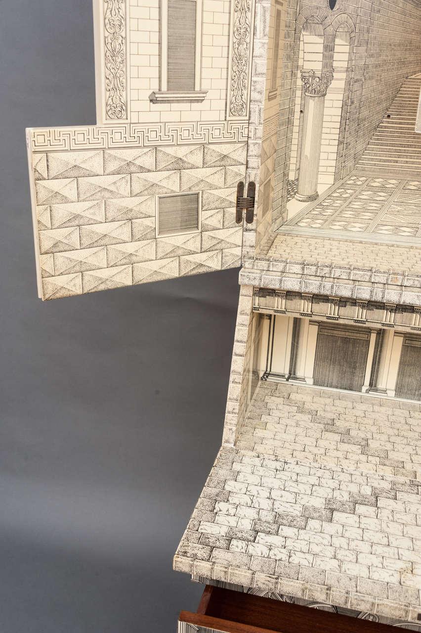 Mid-20th Century Piero Fornasetti trumeau architettura, Italy circa 1959 For Sale