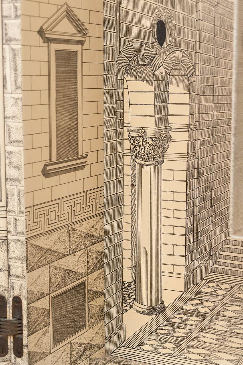 Piero Fornasetti trumeau architettura, Italy circa 1959 For Sale 2