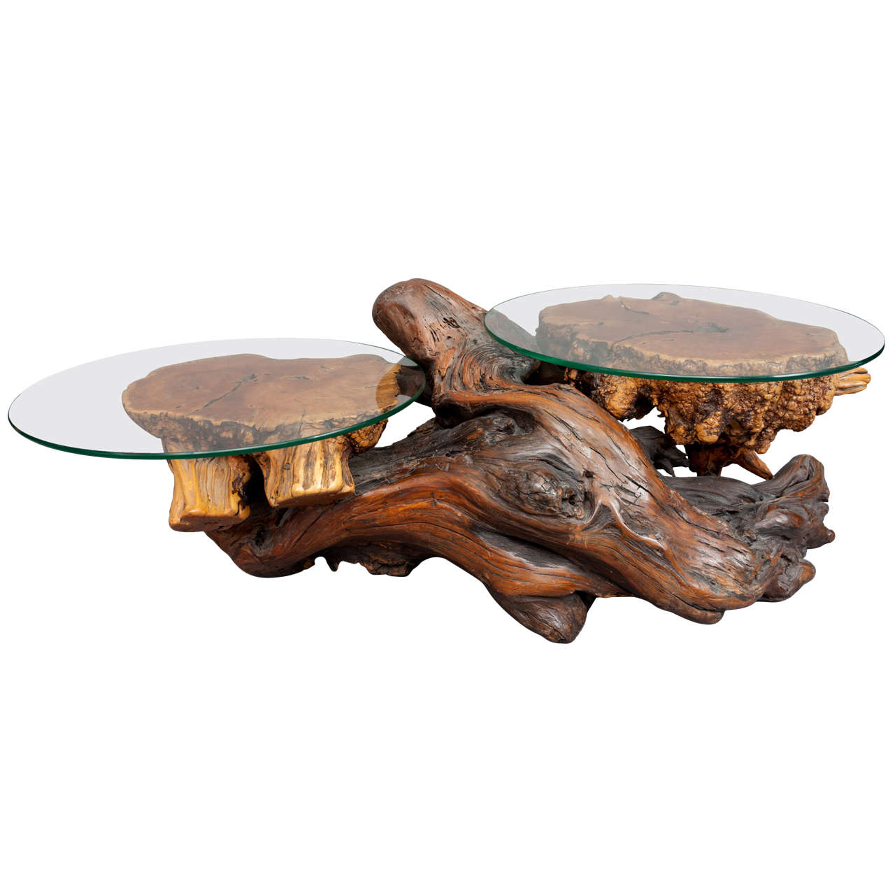 California Redwood Coffee Table: A Rustic Redwood Coffee Table. At 1stdibs