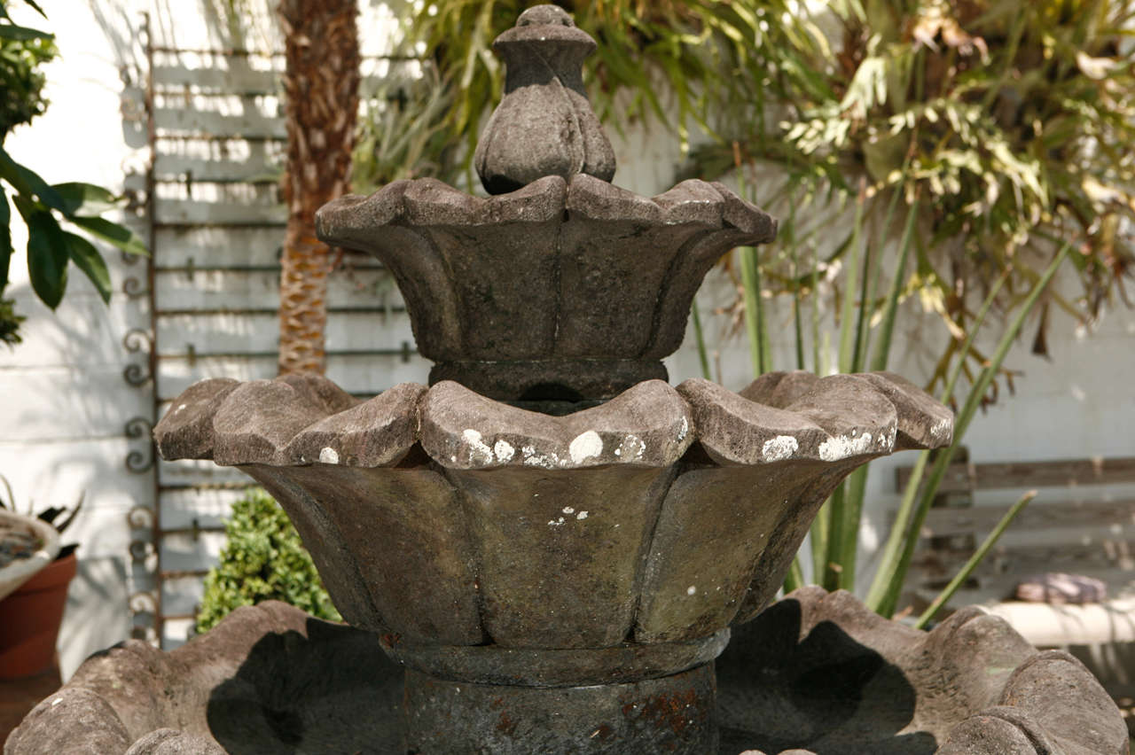 19th Century Volcanic Stone Fountain For Sale