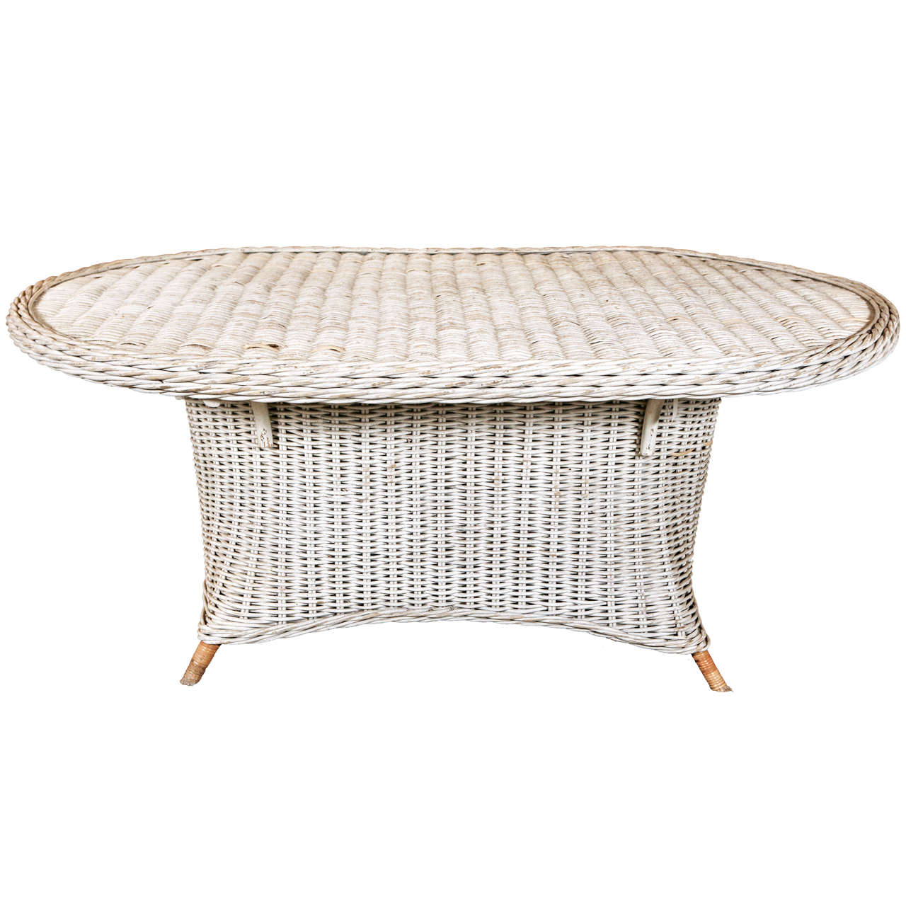 Large Wicker Table At 1stdibs