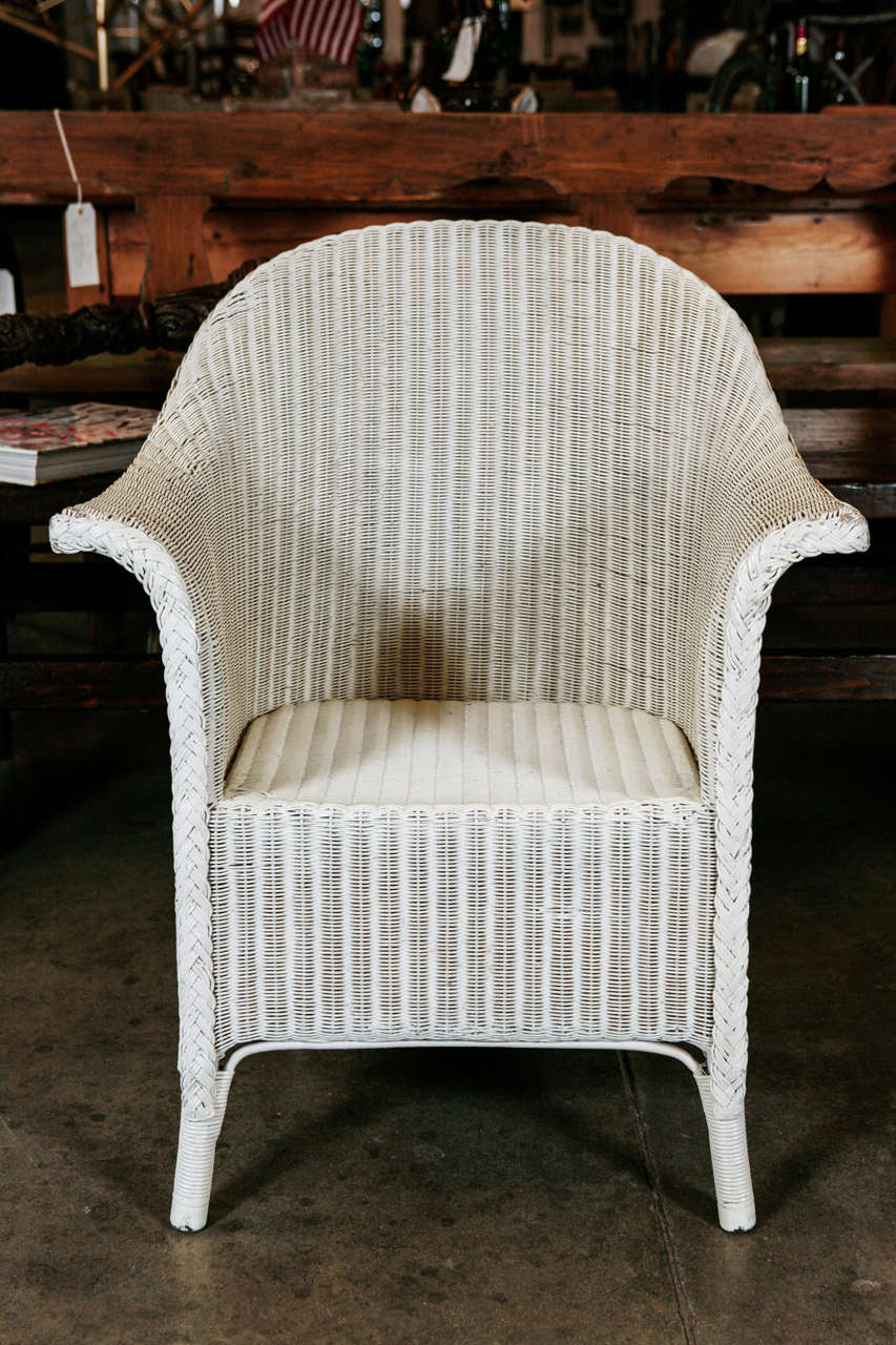 Pair wicker arm chairs by lloyd loom at 1stdibs for H furniture loom chair