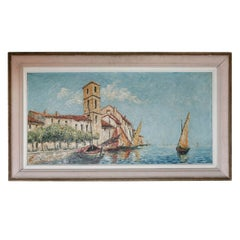St Tropez Oil Painting by Klemczsnski