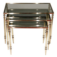 Set of Vintage Nesting Tables in the Style of Maison Jansen