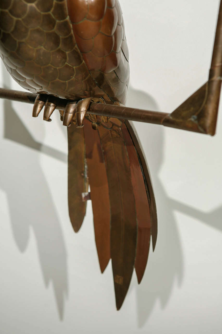Copper and Brass Parrot by Sergio Bustamante 4