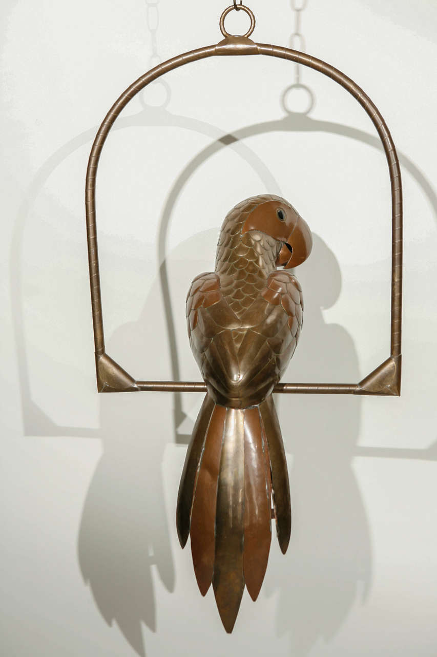 Copper and Brass Parrot by Sergio Bustamante 5