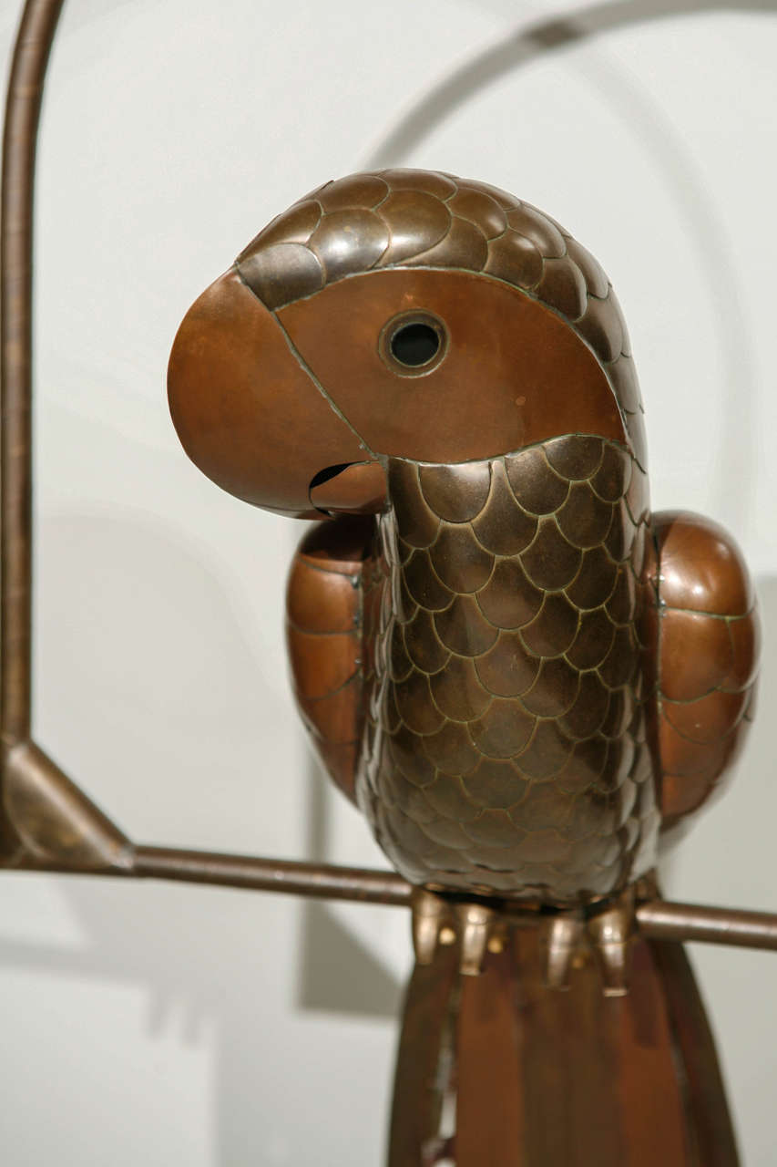 Copper and Brass Parrot by Sergio Bustamante 6