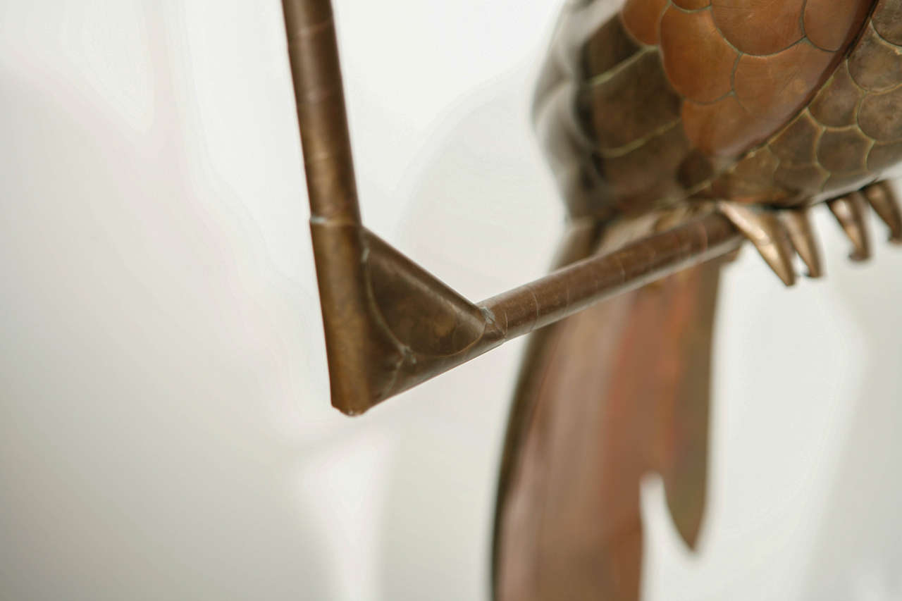 Copper and Brass Parrot by Sergio Bustamante 9