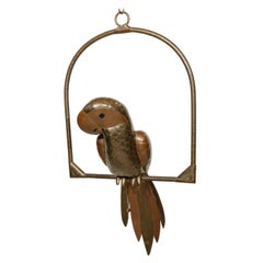 Copper and Brass Parrot by Sergio Bustamante